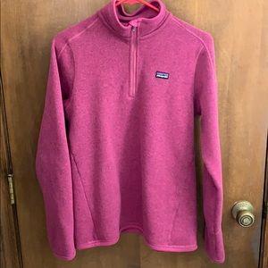 Pink Patagonia Better Sweater Fleece, size Medium